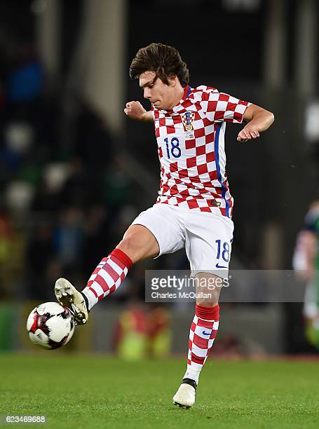 Ante Coric of Croatia during the international friendly fixture between Northern Ireland and Croatia at Windsor Park on November 15 2016 in Belfast...