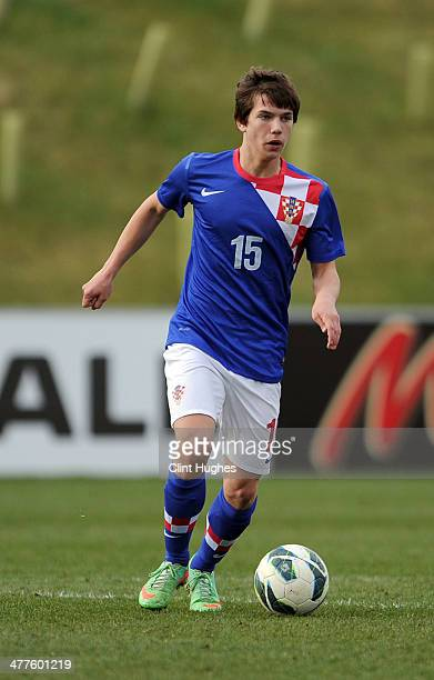 Ante Coric of Croatia during the U18 International friendly match between England and Croatia at St Georges Park on March 5 2014 in Burton upon Trent...