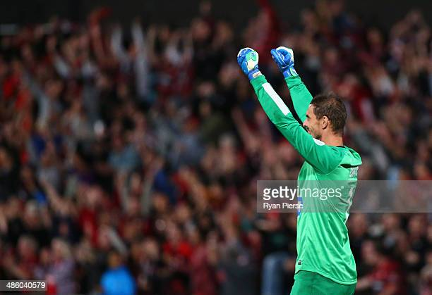 Ante Covic of the Wanderers celebrates during the AFC Asian Champions League match between the Western Sydney Wanderers and Guizhou Renhe at Pirtek...