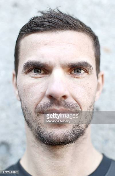 Ante Covic poses for a portrait during the ALeague All Stars Player Announcement at ANZ Stadium on July 4 2013 in Sydney Australia