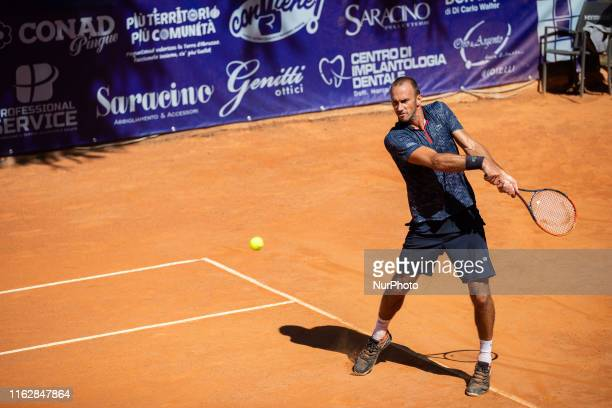Ante Pavic during the match between Guilherme Clezar and Ante Pavic at the Internazionali di Tennis Citt dell'Aquila in L'Aquila, Italy, on August...