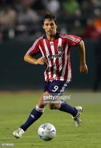 Ante Razov of CD Chivas USA moves the ball on the attack against the New York Red Bulls in the second half of their MLS match at the Home Depot...