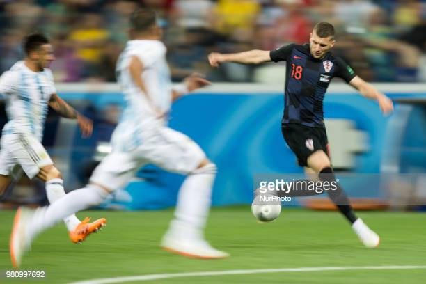 Ante Rebic during the 2018 FIFA World Cup Russia group D match between Argentina and Croatia at Nizhny Novgorod Stadium on June 21 2018 in Nizhny...
