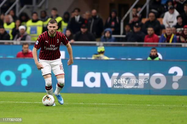 Ante Rebic of Ac Milan in action during the Serie A match between Ac Milan and Us Lecce The match ends in a draw 2 2