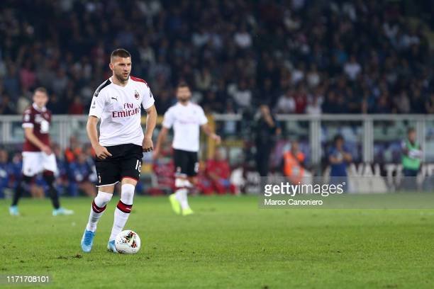 Ante Rebic of Ac Milan in action during the Serie A match between Torino Fc and Ac Milan. Torino Fc wins 2-1 over Ac Milan.