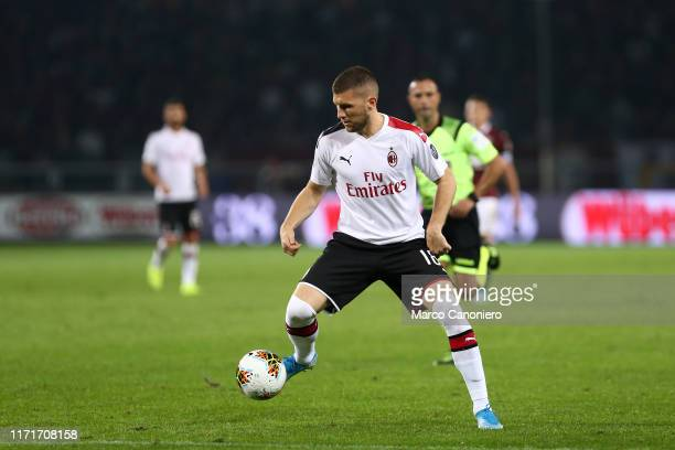 Ante Rebic of Ac Milan in action during the Serie A match between Torino Fc and Ac Milan Torino Fc wins 21 over Ac Milan