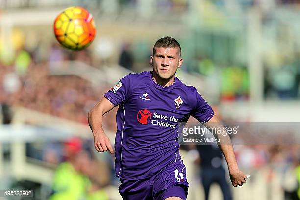 Ante Rebic of ACF Fiorentina gestures during the Serie A match between ACF Fiorentina and Frosinone Calcio at Stadio Artemio Franchi on November 1...