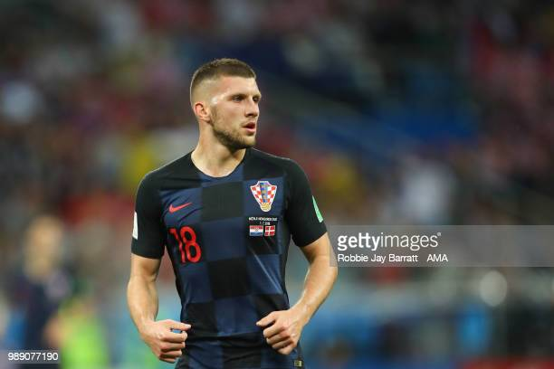 Ante Rebic of Croatia in action during the 2018 FIFA World Cup Russia Round of 16 match between Croatia and Denmark at Nizhny Novgorod Stadium on...