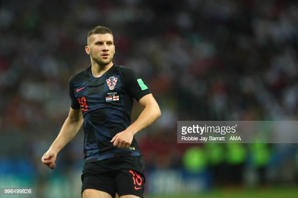 Ante Rebic of Croatia in action during the 2018 FIFA World Cup Russia Semi Final match between Croatia and England at Luzhniki Stadium on July 11...
