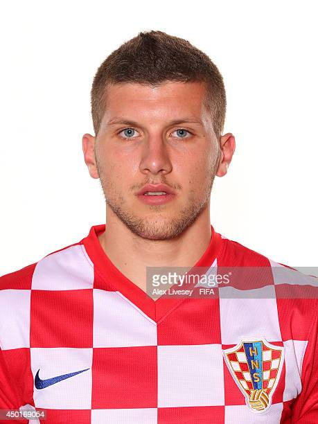Ante Rebic of Croatia poses during the official FIFA World Cup 2014 portrait session on June 5 2014 in Salvador Brazil