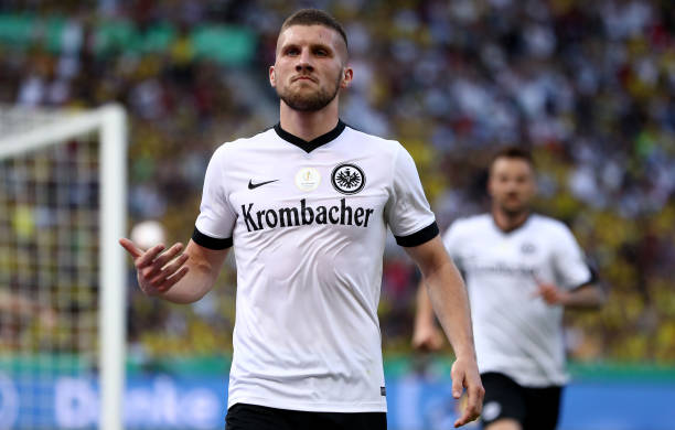 Rebić scored for Eintracht Frankfurt at the DFB Pokal Final against Borussia Dortmund. (Photo by Alex Grimm/Bongarts/Getty Images)