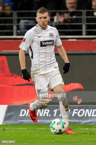 Ante Rebic of Frankfurt controls the ball during the Bundesliga match between Eintracht Frankfurt and FC Bayern Muenchen at CommerzbankArena on...