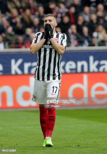 Ante Rebic of Frankfurt looks on during the Bundesliga match between Eintracht Frankfurt and FC Ingolstadt 04 at CommerzbankArena on February 18 2017...