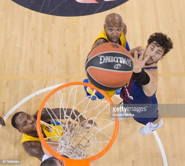 Ante Tomic #44 of FC Barcelona Lassa in action during the 2017/2018 Turkish Airlines EuroLeague Regular Season Round 9 game between FC Barcelona...