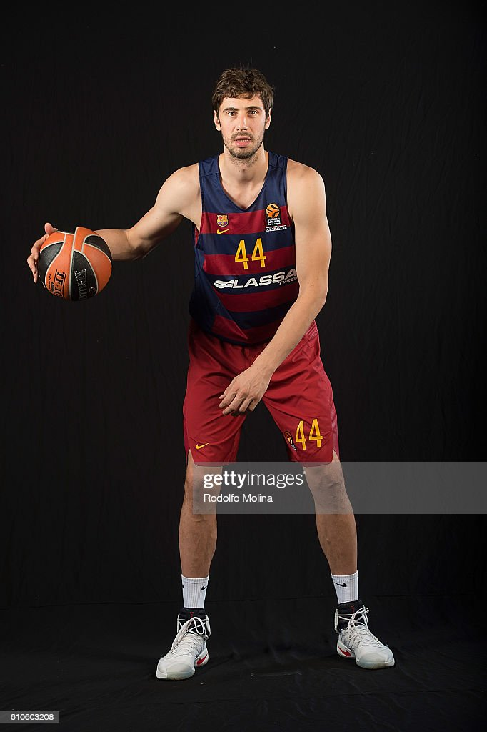 Ante Tomic, #44 of FC Barcelona Lassa poses during the 2016/2017 Turkish Airlines EuroLeague Media Day at Palau Blaugrana on September 26, 2016 in Barcelona, Spain.