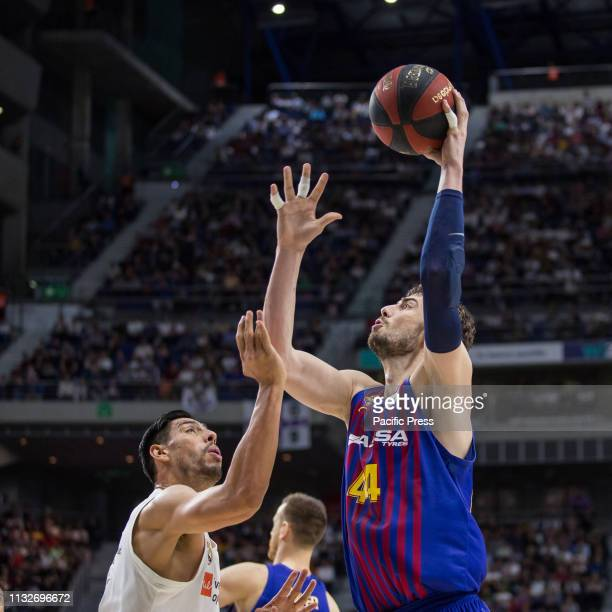 Ante Tomic during FC Barcelona Lassa victory over Real Madrid in Liga Endesa regular season game celebrated in Madrid at Wizink Center March 24th 2019