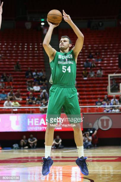 Ante Zizic of the Boston Celtics shoots the ball against the San Antonio Spurs on July 5 2017 at Jon M Huntsman Center in Salt Lake City Utah NOTE TO...