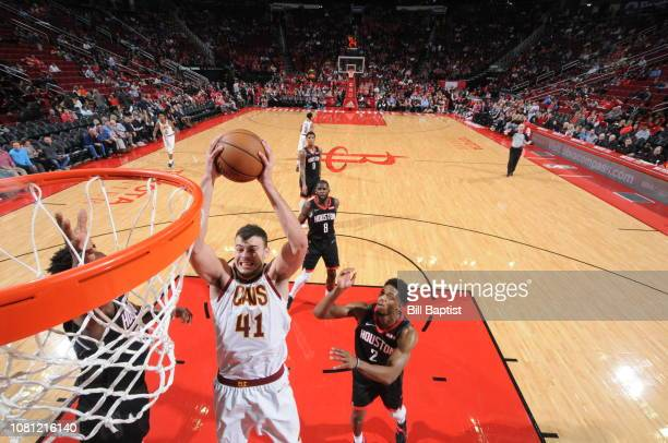 Ante Zizic of the Cleveland Cavaliers dunks against the Houston Rockets on January 11 2019 at the Toyota Center in Houston Texas NOTE TO USER User...