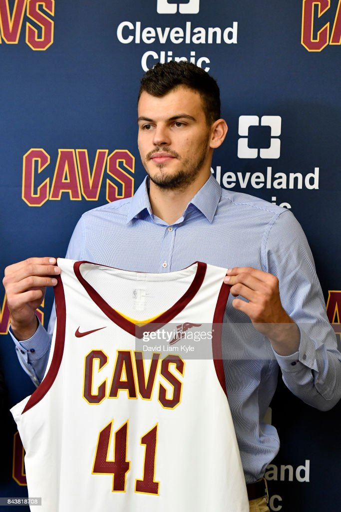 size 40 49334 41de4 Ante Zizic of the Cleveland Cavaliers shows of his new ...