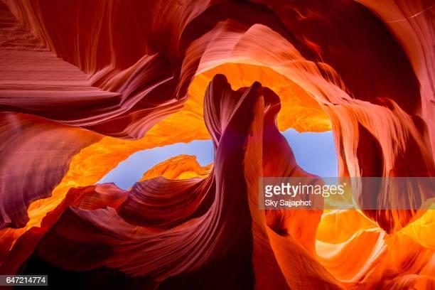 antelope canyon natural rock formation - スロット渓谷 ストックフォトと画像