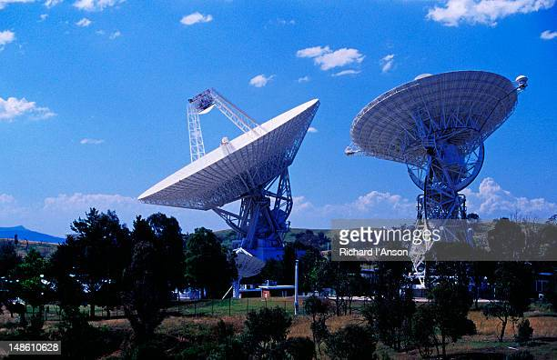 Antennas at Canberra Deep Space Communication Complex.