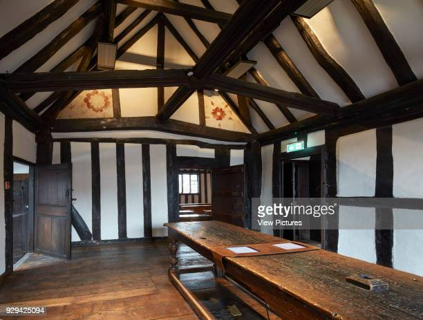 Anteroom with exposed original wall painting Shakespeare's Schoolroom StratforduponAvon United Kingdom Architect Wright Wright Architects LLP 2016