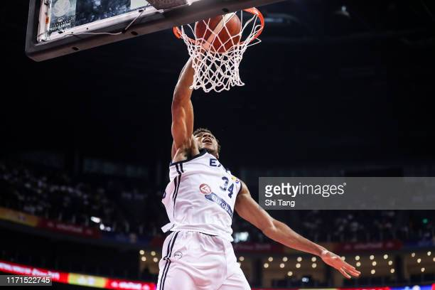 Antetokounmpo Giannis of Greece Team slams during the 1st round of 2019 FIBA World Cup at Nanjing Youth Olympic Sports Park Gymnasium on September 01...