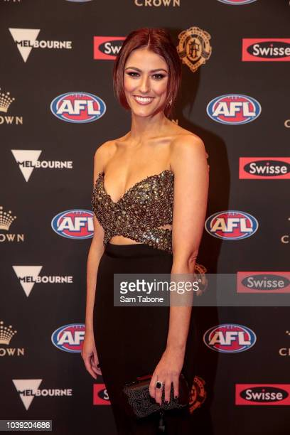 Anthea Pellow attends 2018 Brownlow Medal at Crown Entertainment Complex on September 24 2018 in Melbourne Australia