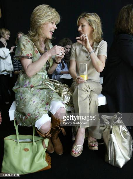 Anthea Turner and Andrea Catherwood during TU at Sainsbury's Catwalk Show Photocall at Mary Wards House in London United Kingdom