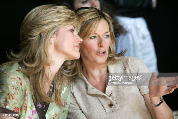 Anthea Turner and Andrea Catherwood during Tu for Sainsbury's Fashion Show at Mary Ward House at Mary Ward House in London Great Britain