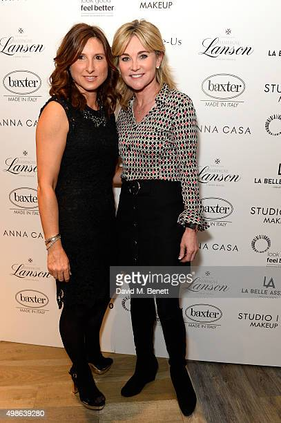 Anthea Turner and Grace Fodor attend a champagne reception for 'Look Good Feel Better' supporting women with cancer at the Baxter London on November...