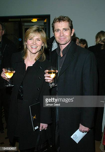 Anthea Turner and Grant Bovey during Cirque Du Soleil Dralion European Premiere at Royal Albert Hall in London Great Britain