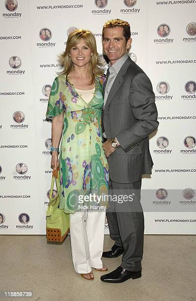Anthea Turner and Grant Bovey during Monday The Charities Lottery – Launch Party at Titanic in London Great Britain