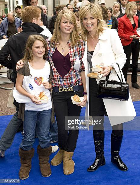 Anthea Turner And Her Family Arrive At The French Market In The Middle Of Leicester Square Gardens For The Uk Premiere Of Ratatouille At The Odeon...