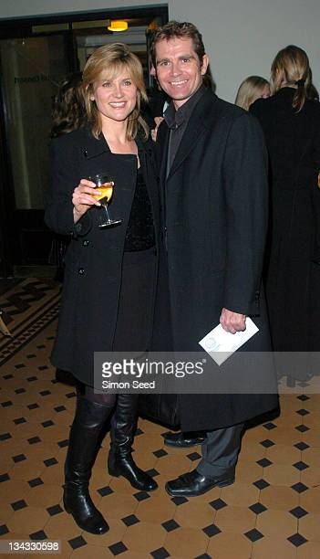 Anthea Turner and husband Grant Bovey during Cirque Du Soleil Dralion European Premiere at Royal Albert Hall in London Great Britain