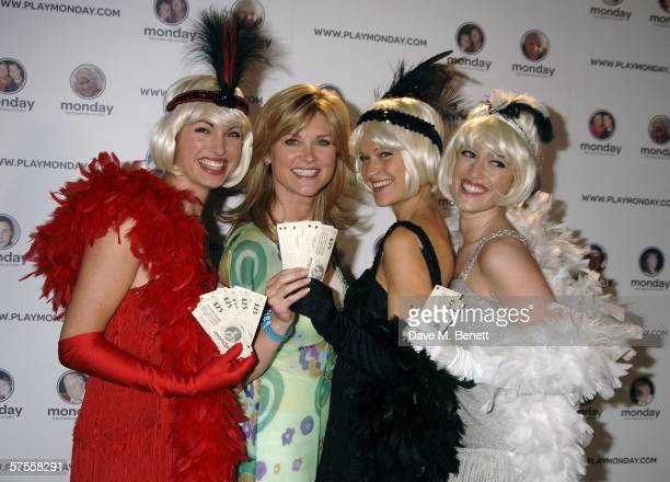 Anthea Turner and models attend the launch party for the new Monday Lottery, called 'Monday,' which supports 70 different charities, at Titanic on...