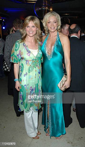 Anthea Turner and Nell McAndrew during Monday The Charities Lottery Launch Party at Titanic in London Great Britain