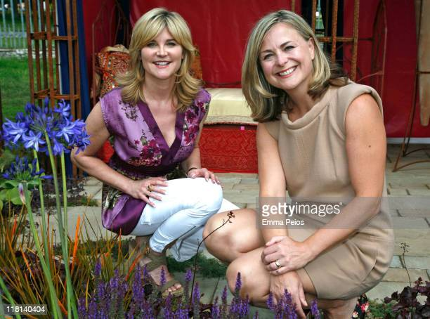 Anthea Turner and Philippa Forrester attend the first day of Hampton Court Palace Flower Show at Hampton Court Palace on July 3 2011 in London England