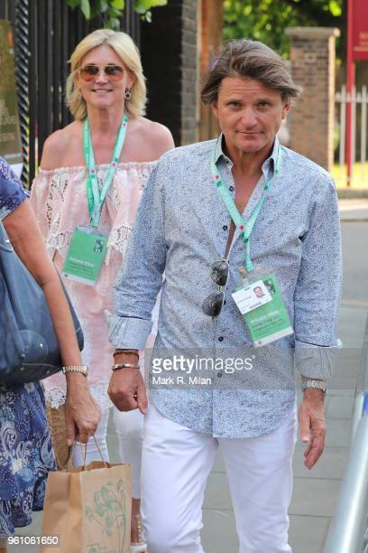 Anthea Turner and Richard Farleigh attending Chelsea Flower show on May 21 2018 in London England