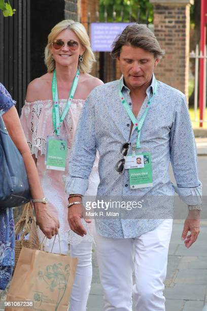 Anthea Turner and Richard Farleigh attending the Chelsea Flower show on May 21 2018 in London England