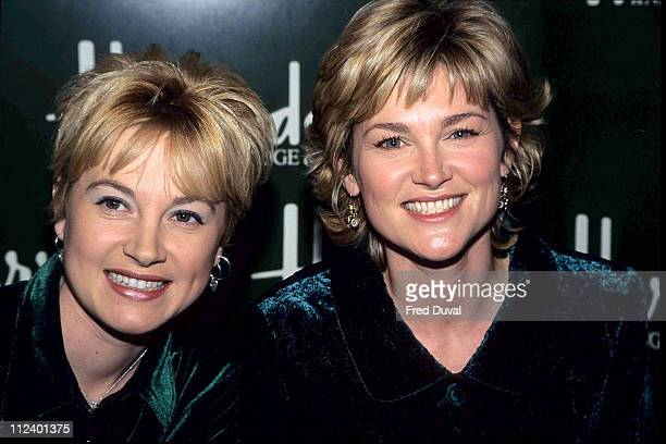 Anthea Turner and sister Wendy Turner Instore promotions