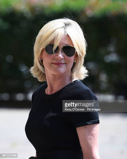 Anthea Turner arrives at Old Church 1 Marylebone Road in London for the funeral of Supermarket Sweep star Dale Winton