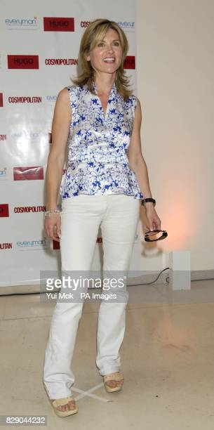 Anthea Turner arrives for Cosmopolitan magazine's Naked Male Centrefolds Party 2004 at the MC Saatchi in central London to help raise funds for male...