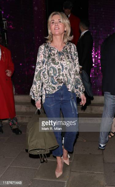 Anthea Turner at Annabel's club on March 22 2019 in London England