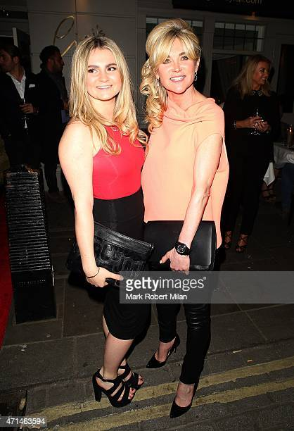 Anthea Turner attending the Hot Gossip launch party at Gigi's on April 28 2015 in London England