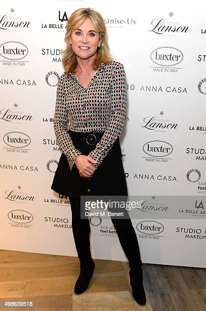 Anthea Turner attends a champagne reception for 'Look Good Feel Better' supporting women with cancer at the Baxter London on November 24 2015 in...