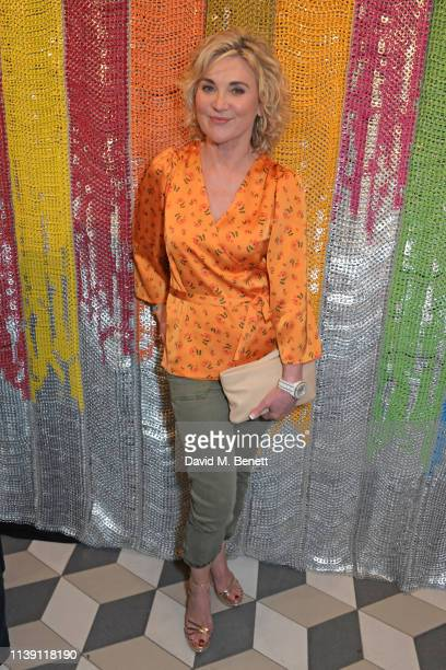 Anthea Turner attends a cocktail supper hosted by BOTTLETOP cofounders Cameron Saul Oliver Wayman along with Arizona Muse Richard Curtis Livia Firth...