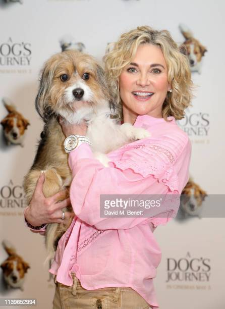 Anthea Turner attends a gala screening of A Dog's Journey at The Soho Hotel on April 27 2019 in London England
