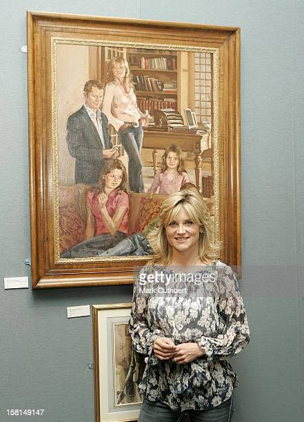 Anthea Turner Attends A Photocall To Promote The Opening Of The Royal Society Of Portrait Painters Show In London