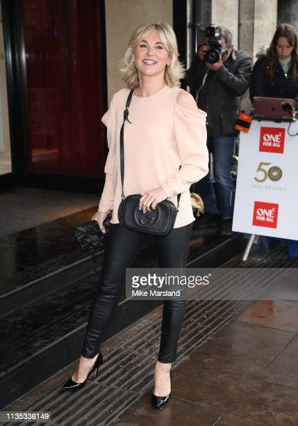 Anthea Turner attends the 2019 'TRIC Awards' held at The Grosvenor House Hotel on March 12 2019 in London England